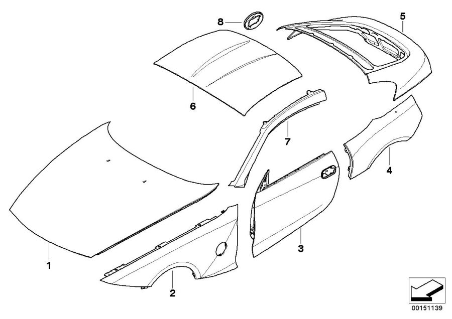 2009 bmw z4 parts diagram
