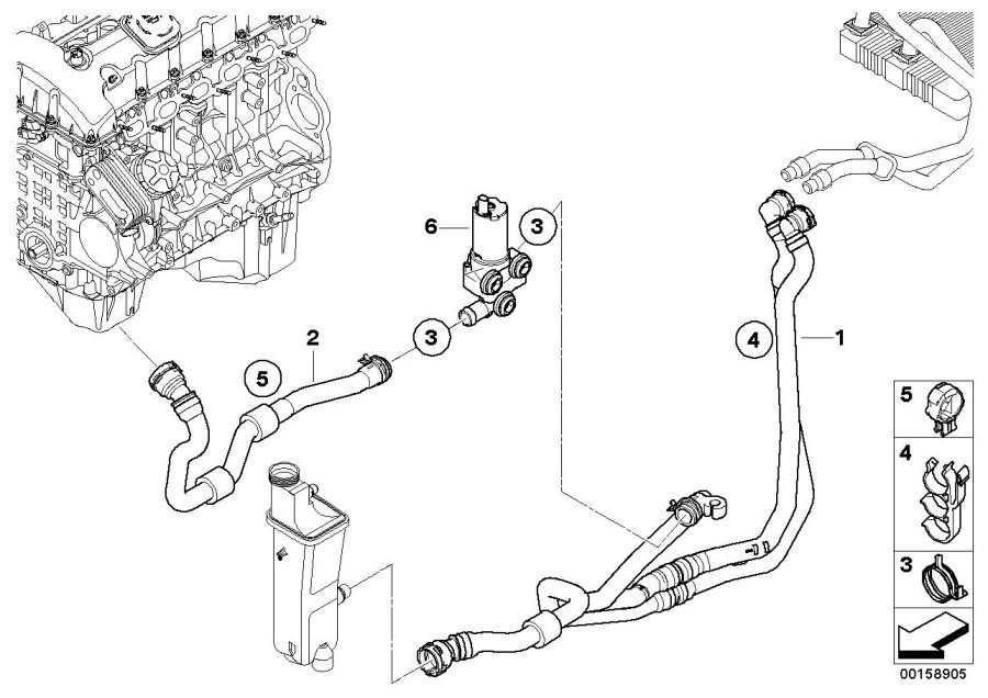 bmw x3 coolant system parts diagram