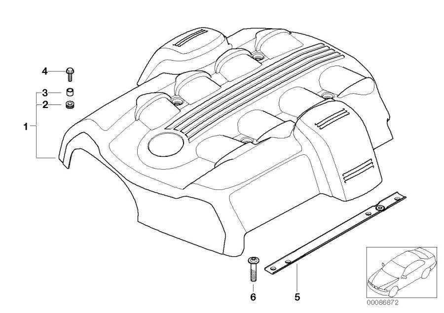 bmw e65 e66 engine parts diagram