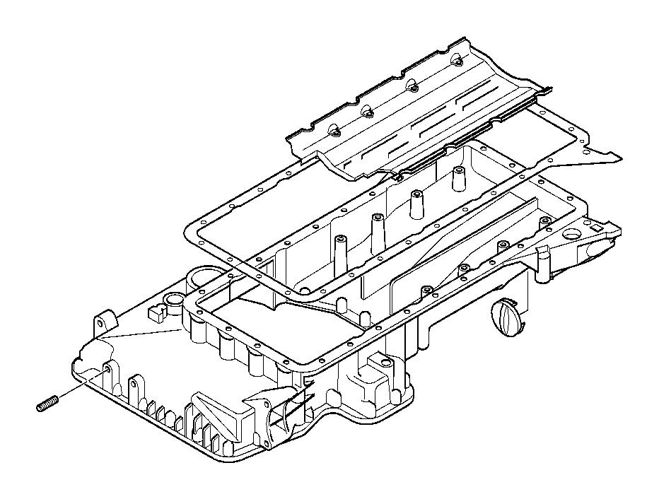 bmw 740ilp oil deflector  engine