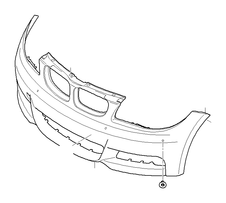 bmw m coupe seal  equipment module  front  l 1380 mm  trim