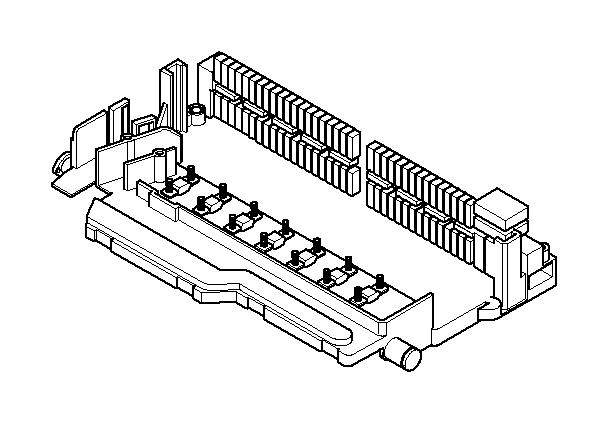 bmw 328i fuse box  single  components