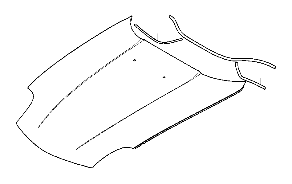 bmw z8 hood  outer  trim  body