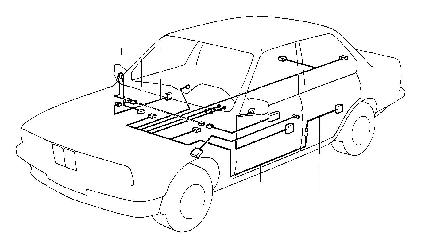 bmw 318i current supply wiring set  sets