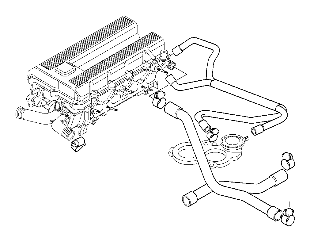 Bmw M42 Engine Vacuum Diagram as well 99 Bmw 323i Engine Diagram together with 2xuz5 Remove Alternator 1996 Dodge Grand Caravan 3 3 Litre Engine also 64211387010 additionally Cooling System Water Hoses 3. on engine diagram of 1994 bmw 318